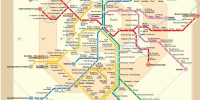 Paris metro map route planner